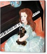 The Pianist And Her Pekinese Acrylic Print