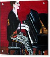The Pianist Acrylic Print by Pilar  Martinez-Byrne