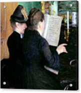 The Piano Lesson Acrylic Print by Gustave Caillebotte