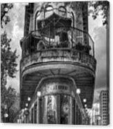 The Pickle Barrel 3 B W Flatiron Architecture Chattanooga Tennessee Art Acrylic Print