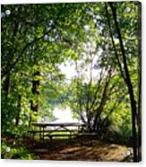 The Picnic Table Acrylic Print