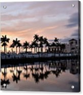 Reflecting Palms At The Pier 22 Acrylic Print