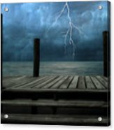 The Pier And The Storm Acrylic Print