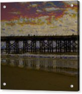 The Pier At Sunset Acrylic Print