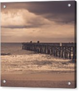 The Pier Before The Storm Acrylic Print