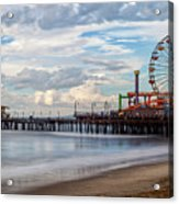 The Pier On A Cloudy Day Acrylic Print