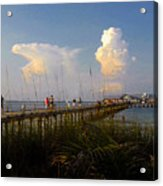 The Pier On Anna Maria Island Acrylic Print
