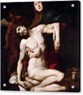 The Pieta Acrylic Print by Daniele Crespi