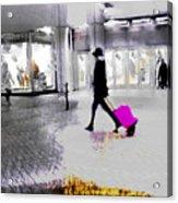 The Pink Bag Acrylic Print