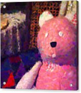 The Pink Bear Acrylic Print