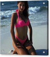 The Pink Bikini Acrylic Print