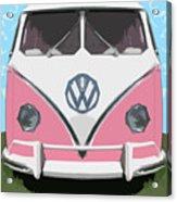 The Pink Love Bus Acrylic Print