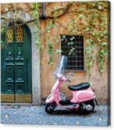 The Pink Vespa Acrylic Print