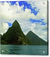 The Pitons Acrylic Print