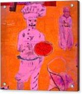 The Pizza  Theos. Acrylic Print