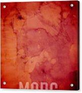 The Planet Mars Acrylic Print by Michael Tompsett