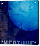 The Planet Neptune Acrylic Print by Michael Tompsett