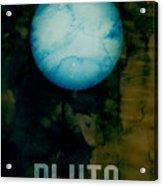 The Planet Pluto Acrylic Print by Michael Tompsett