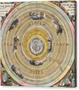 The Planisphere Of Ptolemy, Harmonia Acrylic Print by Science Source