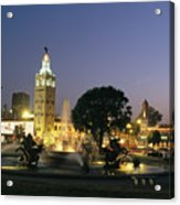 The Plaza In Kansas City, Mo, At Night Acrylic Print