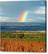 The Pleasant View Rainbow Acrylic Print