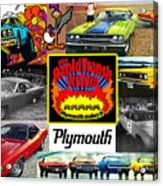 The Plymouth Rapid Transit System Collage Acrylic Print