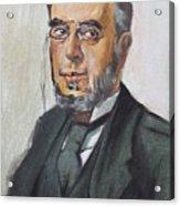 The Poet Demetrius Vikelas Acrylic Print