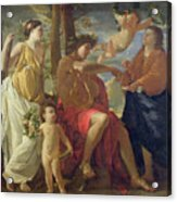 The Poets Inspiration Acrylic Print by Nicolas Poussin