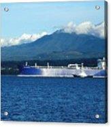 The Polar Resolution Oil Tanker Port Angeles Harbor Wa Acrylic Print