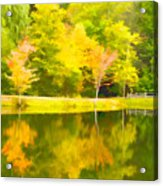 The Pond At Alpine Acrylic Print