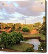 The Pond At Prince Kuhio Park Acrylic Print