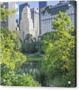 The Pond Acrylic Print by Ed Rooney