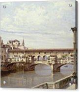 The Pontevecchio - Florence  Acrylic Print by Antonietta Brandeis