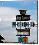 The Pony Soldier Motel On Route 66 Acrylic Print