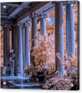 The Porch Of The European Collection Art Gallery At The Huntington Library In Infrared Acrylic Print