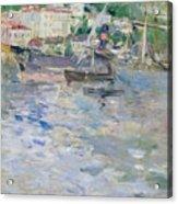 The Port At Nice Acrylic Print by Berthe Morisot