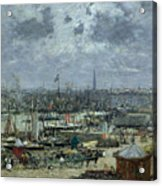 The Port Of Bordeaux Acrylic Print by Eugene Louis Boudin
