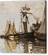 The Port Of Honfleur Acrylic Print by Claude Monet
