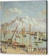 The Port Of Le Havre In The Afternoon Sun Acrylic Print by Camille Pissarro