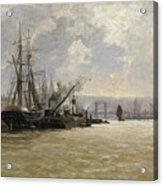 The Port Of Rouen Acrylic Print