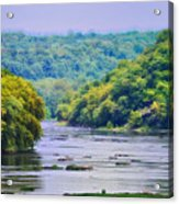 The Potomac Acrylic Print by Bill Cannon