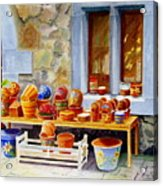 The Pottery Shop Acrylic Print