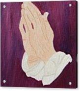 The Praying Hands Acrylic Print