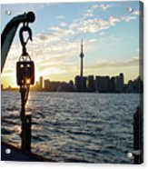 The Precision Of Sunset In The Harbour Acrylic Print