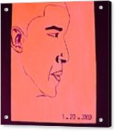 The President Barack Obama. Acrylic Print