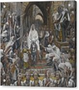 The Procession In The Streets Of Jerusalem Acrylic Print by Tissot