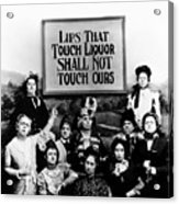 The Prohibition Temperance League 1920 Acrylic Print