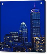 The Pru Lit Up In Red White And Blue For The Fourth Of July Acrylic Print
