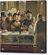 The Public Bar Acrylic Print by John Henry Henshall