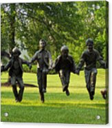 The Puddle Jumpers At Byers Choice Acrylic Print